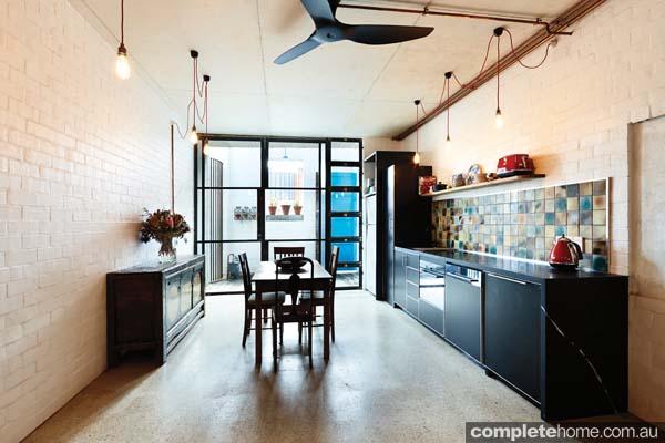 open plan contemporary kitchen