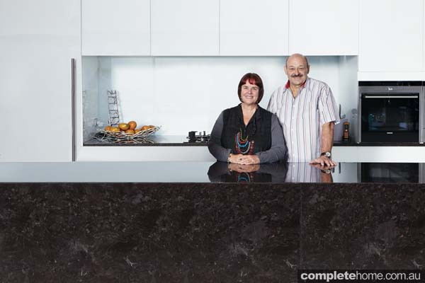 Richard and Denise Jones' Black and white modern kitchen
