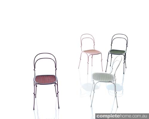 cute candy coloured pastel chairs