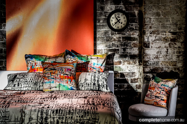 Abstract bright and colourful bedding