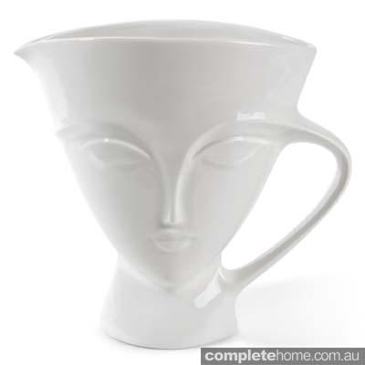 water or milk pitcher jug white