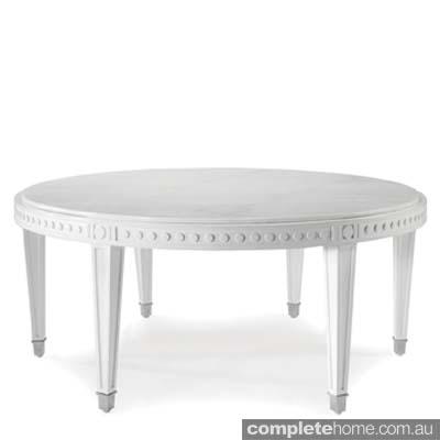 white ornate kitchen table