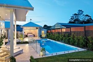 poolside landscaping bayon