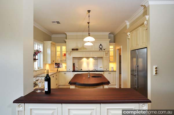 heritage style kitchen timber benchtop