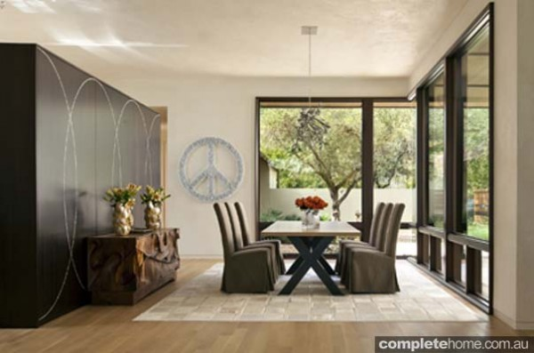 open plan dining room modern