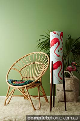 hand crafted tropical style lamp