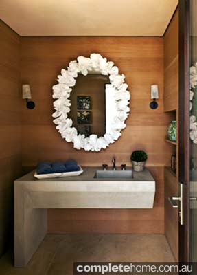quirky master bathroom