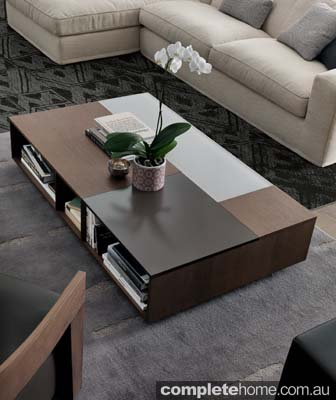 contemporary storage coffee table