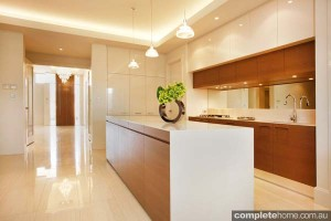 contemporary kitchen isolated benchtop