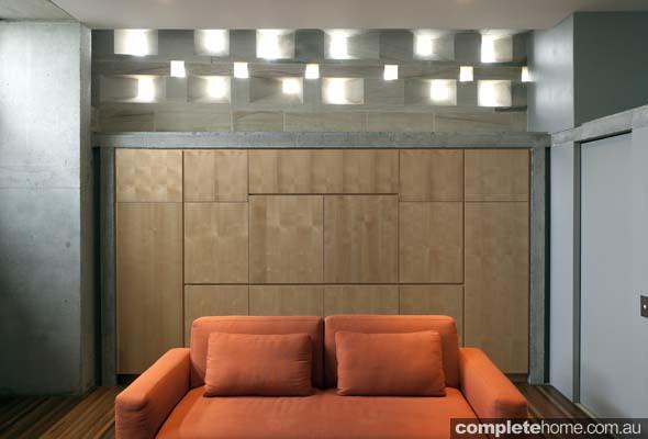 wooden paneling lounge