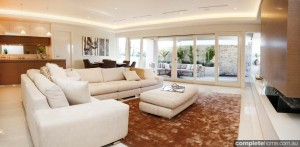 luxury family room white sofa