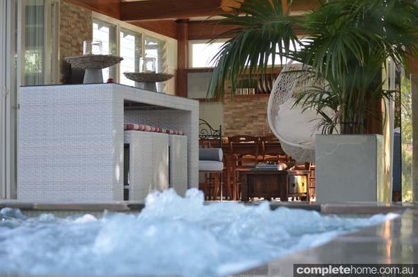 spa and cabana interior
