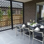 Metal screens and artwork: stylish privacy