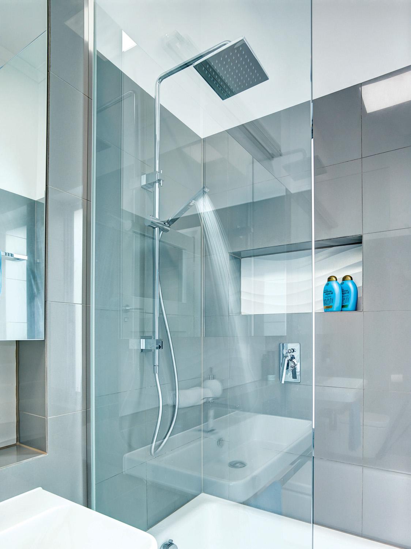 This minimalist and futuristic bathroom design won awards