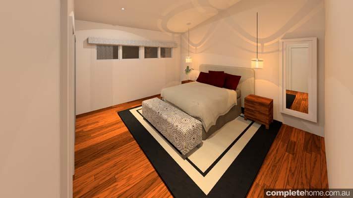 rustic touch banksia bedroom