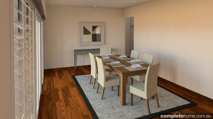rustic touch banksia dining room
