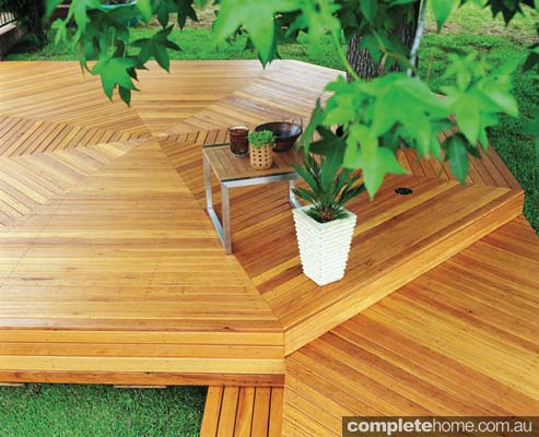 Boral Timber hardwood Blackbutt raised deck