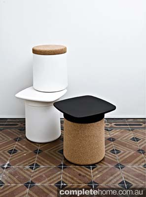 stool storage furnishing