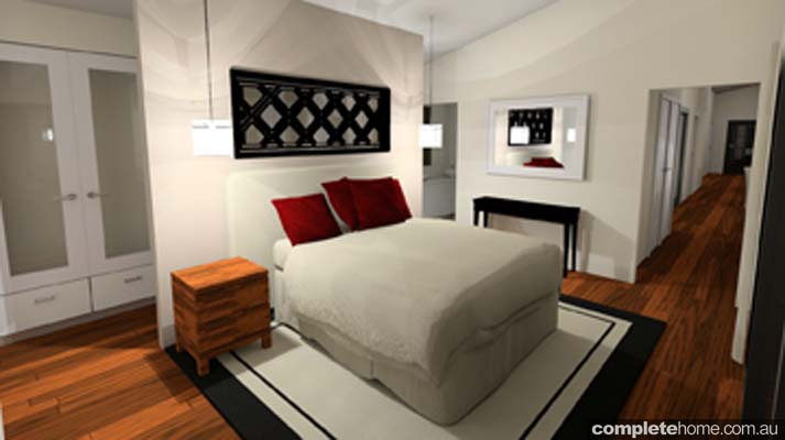 rustic touch home designs bedroom