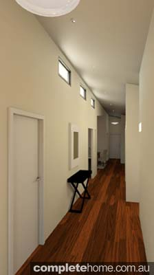 rustic touch home designs hallway