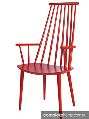 FDB chair collection from Hay bright coral
