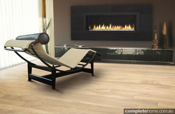contemporary strip gas fireplace
