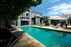 sandstone rectangular pool