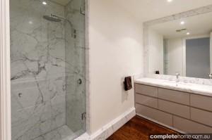 modern marble shower