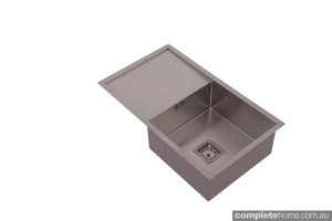 hafele single square sink with drying area