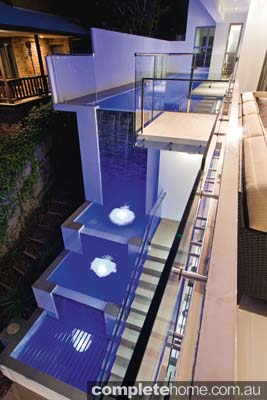 multi tiered contemporary pool design