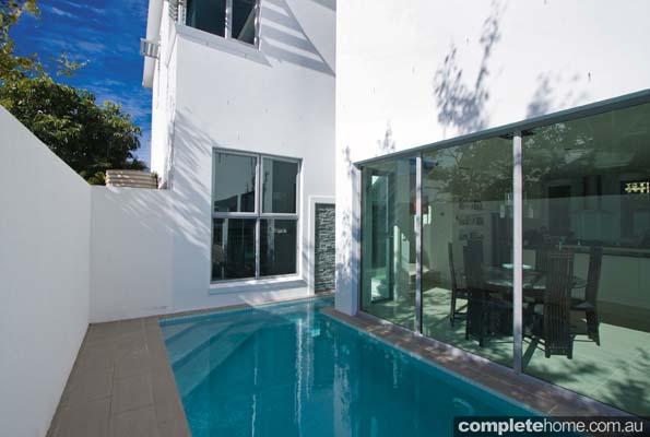 contemporary outdoor pool area