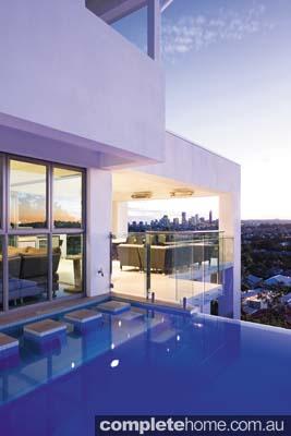 contemporary urban pool area