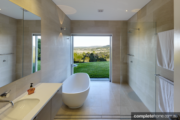 freestanding bath and contemporary bathroom