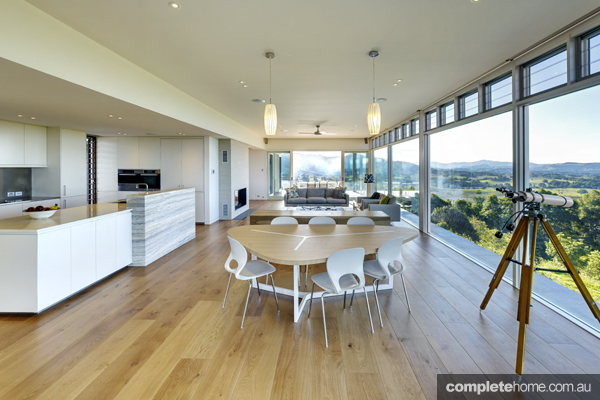 Grand designs australia sustainable bushland home for Australian home interior designs