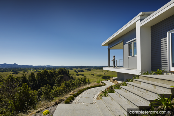Gorgeous views from sustainable hilltop home