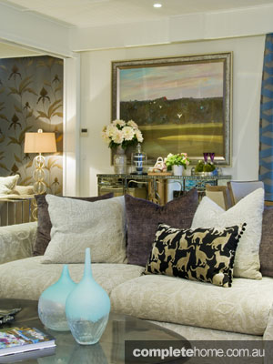 Eclectic and glamorous Interior design