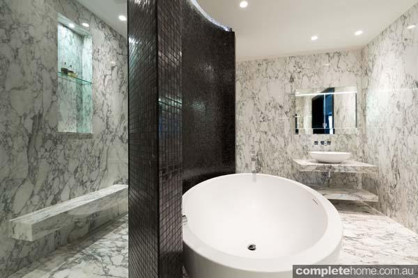 mosaic tiling modern bathroom