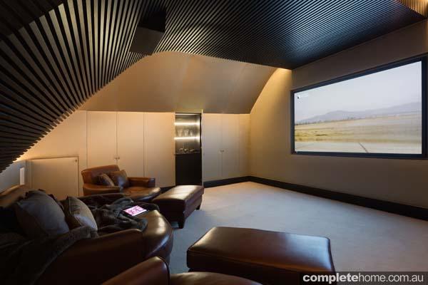 contemporary cinema room