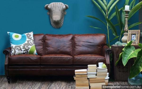 Darcy leather sofa by Cris Bucknall