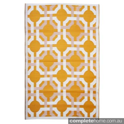 Madrid outdoor rug from Eco-chic sustainable furniture by Cris Bucknall