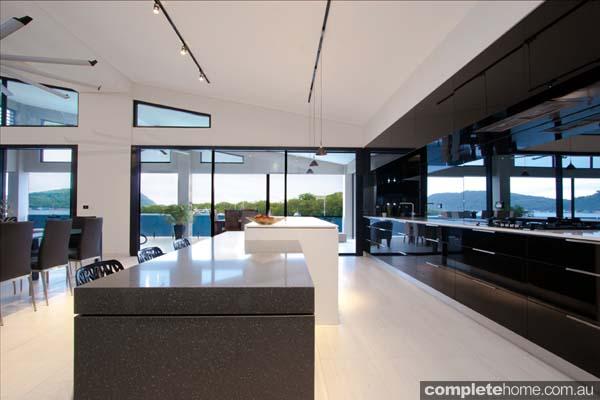 vanuatu enigma kitchen black gloss panelling