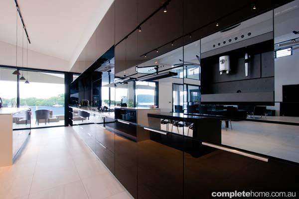 vanuatu enigma kitchen black gloss panelling spacious kitchens