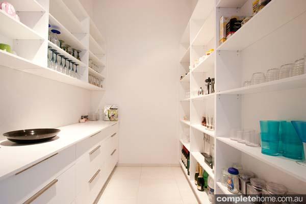 vanuatu enigma kitchen black gloss panelling pantry