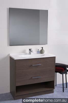 contemporary vanity and bathroom design