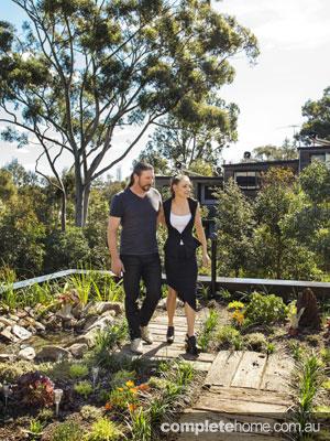 Forest lodge Grand Designs Australia - garden