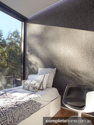 Forest lodge Grand Designs Australia - bedroom window
