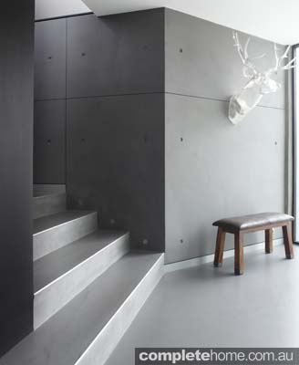 modern cement style flooring