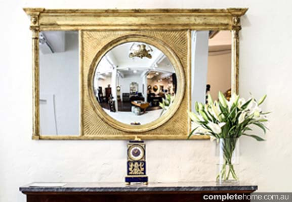 antique large mirror