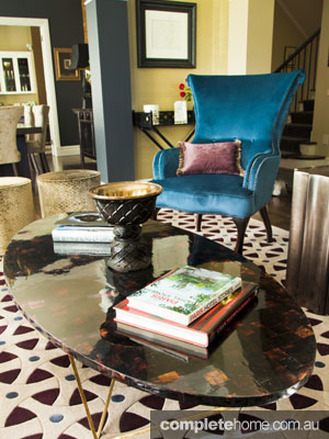 Opulent Interior Design - blue armchair