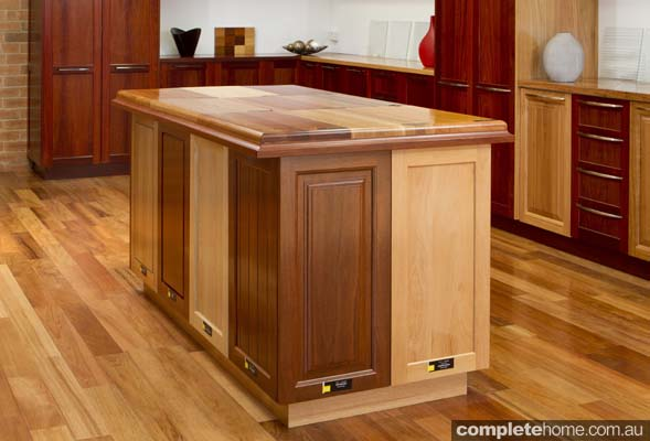 finer timber doors timber kitchen island preparation area